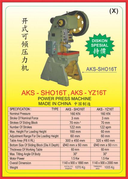 AKS - SHO16T, AKS - YZ16T