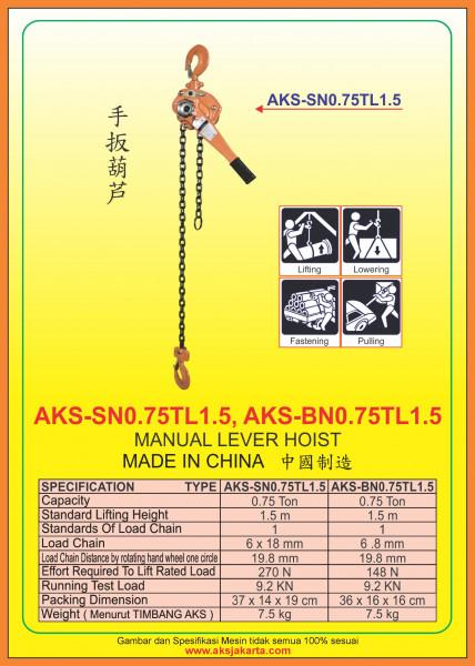 AKS - SN0.75TL1.5, AKS - BN0.75TL1.5