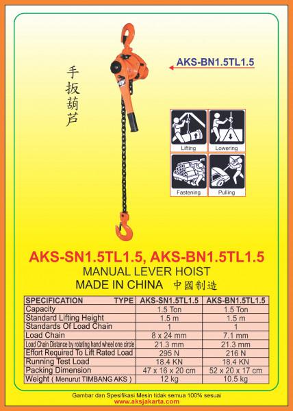 AKS - SN1.5TL1.5, AKS - BN1.5TL1.5