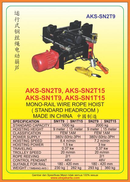 AKS - SN1T9, AKS - SN1T15, AKS - SN2T9, AKS - SN2T15