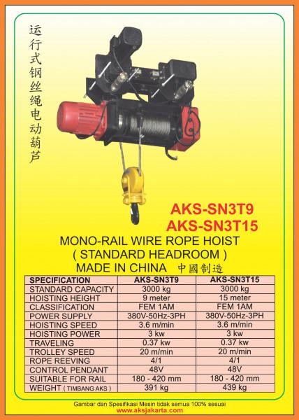 AKS - SN3T9, AKS - SN3T15